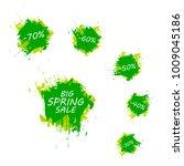 spring sale badge  label banner. | Shutterstock .eps vector #1009045186