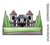 modern castle icon image   Shutterstock .eps vector #1009046506