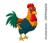 adorable rooster cartoon.... | Shutterstock .eps vector #1009046656