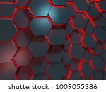 red and blue scifi background ... | Shutterstock . vector #1009055386