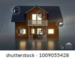 smarthome interface  3d... | Shutterstock . vector #1009055428