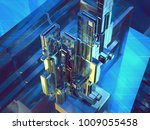 hightech background  3d... | Shutterstock . vector #1009055458