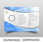 blue polygon elegance business... | Shutterstock .eps vector #1009056532