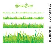 green grass of different... | Shutterstock .eps vector #1009059592