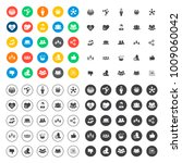 social icons set | Shutterstock .eps vector #1009060042