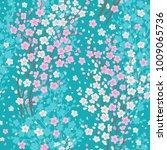 blossom cherry seamless pattern....   Shutterstock .eps vector #1009065736