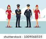 welcome to travel by plane.... | Shutterstock .eps vector #1009068535