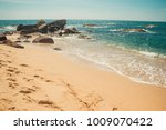 ocean coast with stones and... | Shutterstock . vector #1009070422