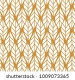 vector illustration of leaves... | Shutterstock .eps vector #1009073365