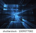 abstract technological... | Shutterstock . vector #1009077082