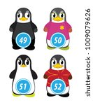 series of penguins numbered... | Shutterstock .eps vector #1009079626