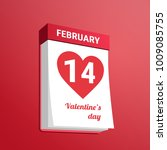 love calendar. flat design.... | Shutterstock .eps vector #1009085755