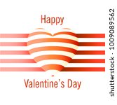 happy valentine's day card with ... | Shutterstock .eps vector #1009089562