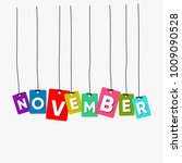 november hanging words vector ... | Shutterstock .eps vector #1009090528
