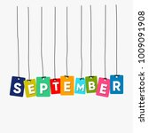 september hanging words vector  ... | Shutterstock .eps vector #1009091908