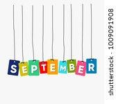 september hanging words vector  ... | Shutterstock .eps vector #1009091908