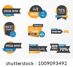 set of sale banner collection ... | Shutterstock .eps vector #1009093492