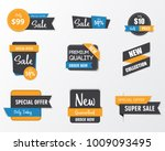 set of sale banner collection ...   Shutterstock .eps vector #1009093495