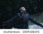 as the snow falls from the sky  ... | Shutterstock . vector #1009108192