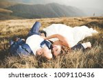 young newly wed couple  bride... | Shutterstock . vector #1009110436