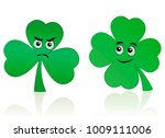clover leaf and shamrock comic... | Shutterstock .eps vector #1009111006