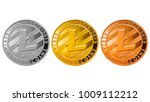 litecoin isolated ... | Shutterstock . vector #1009112212