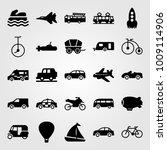 transport vector icon set.... | Shutterstock .eps vector #1009114906