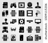 technology vector icon set.... | Shutterstock .eps vector #1009115206