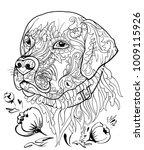golden retriever dog in...   Shutterstock .eps vector #1009115926