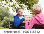 mature couple having exercise...   Shutterstock . vector #1009118812