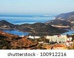 Sea coast in Turkey - stock photo