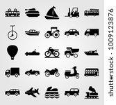 transport vector icon set.... | Shutterstock .eps vector #1009123876
