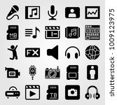 multimedia vector icon set.... | Shutterstock .eps vector #1009123975