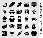 food and drinks vector icon set.... | Shutterstock .eps vector #1009130062
