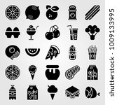 food and drinks vector icon set.... | Shutterstock .eps vector #1009133995