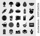 food and drinks vector icon set.... | Shutterstock .eps vector #1009136536