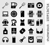 shopping vector icon set....   Shutterstock .eps vector #1009136716