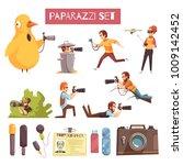 paparazzi photographers taking... | Shutterstock .eps vector #1009142452