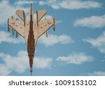 airplane wooden on a background ... | Shutterstock . vector #1009153102