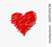 sketched heart icon vector... | Shutterstock .eps vector #1009154158