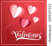 happy valentines day typography ... | Shutterstock .eps vector #1009157212