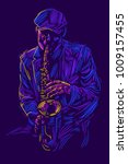 Jazz Saxophone Player Jazz...