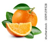 orange fruits with leaf... | Shutterstock . vector #1009159528