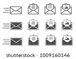 symbols of receiving mail ... | Shutterstock . vector #1009160146