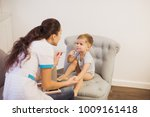 the young doctor sitting on a... | Shutterstock . vector #1009161418