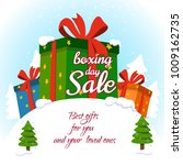 boxing day . sale vector... | Shutterstock .eps vector #1009162735