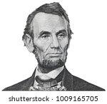 president abraham abe lincoln... | Shutterstock . vector #1009165705