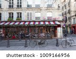 Small photo of Paris, France-January 14, 2018 : Le Bonaparte is one of the finest traditional cafes of Saint-Germain des Pres. Its terrace offers breathtaking views of the abbey church.