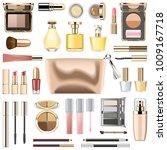 vector makeup cosmetics with... | Shutterstock .eps vector #1009167718