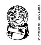 candy gumball machine   retro... | Shutterstock .eps vector #100916866